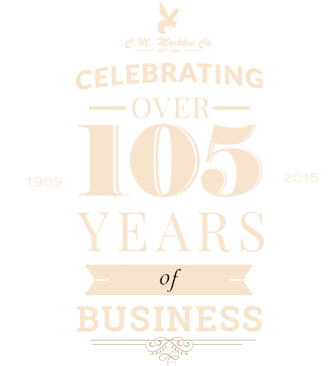 CM Mockbee 105 Years of Business